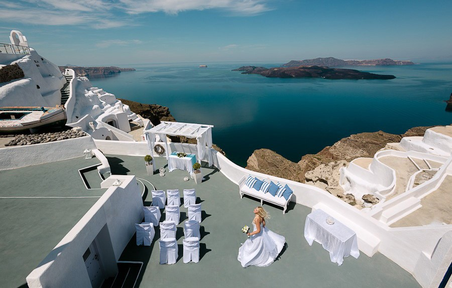 santa irini santorini wedding venue