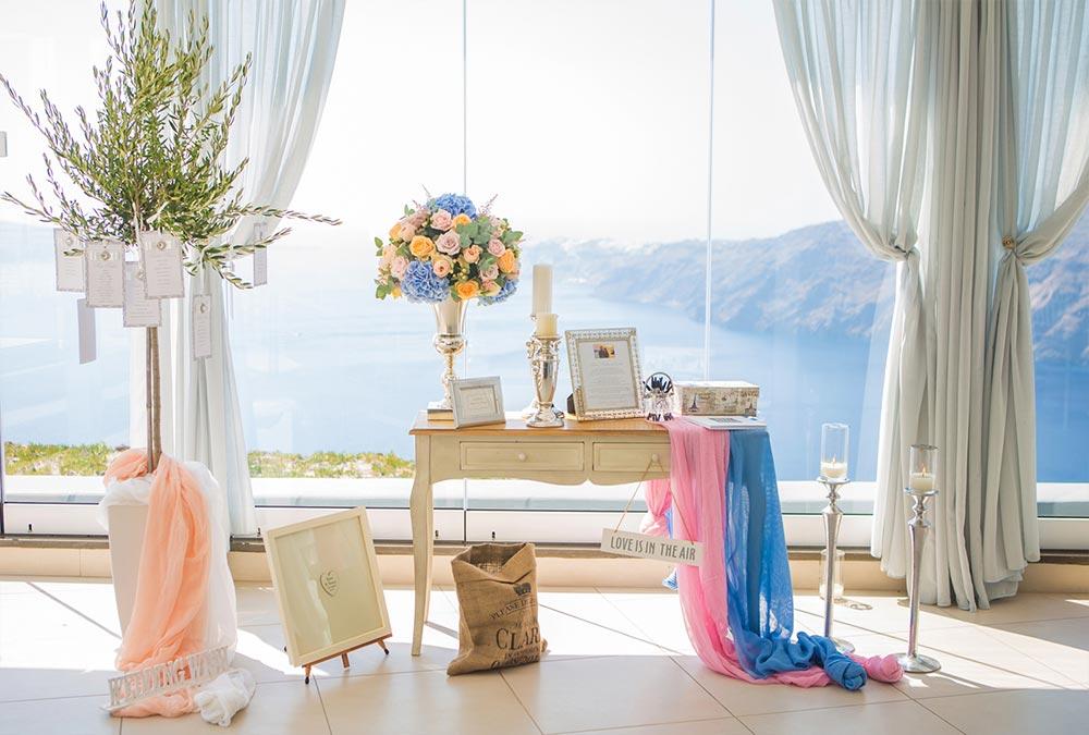 le ciel santorini wedding location