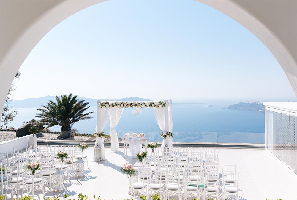 le ciel santorini wedding location 2