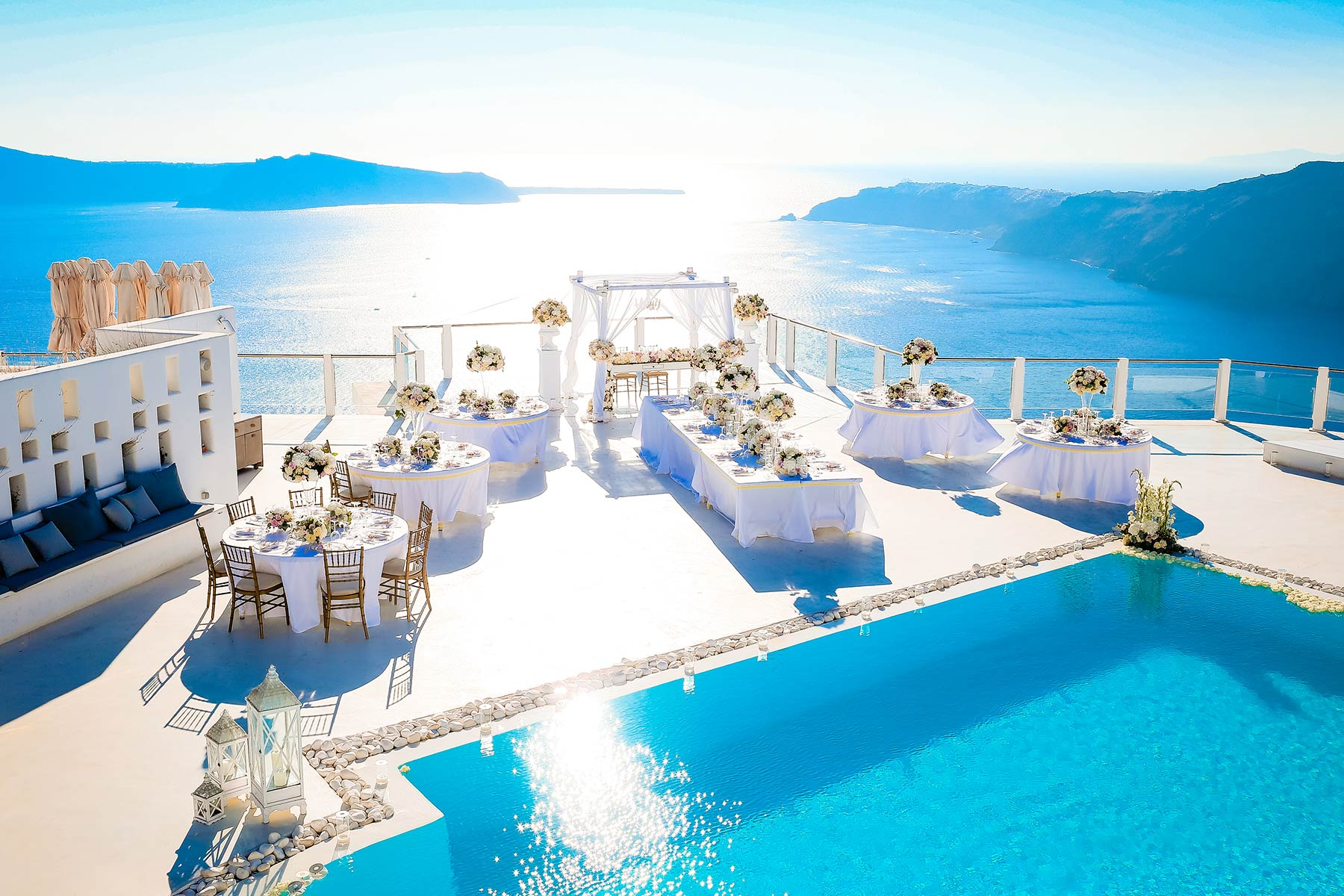 rocabella santorini wedding location