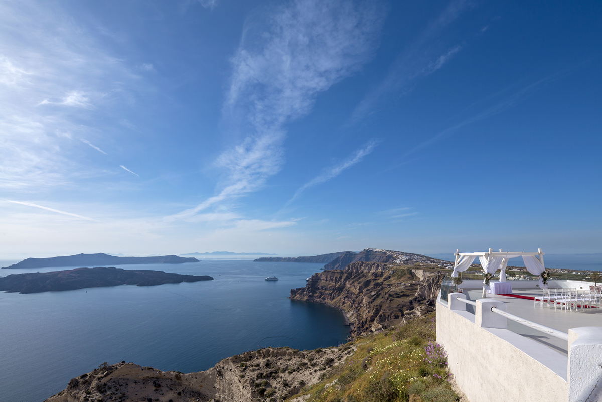 santorini wedding venue