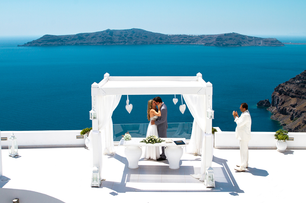 dana villas santorini wedding location
