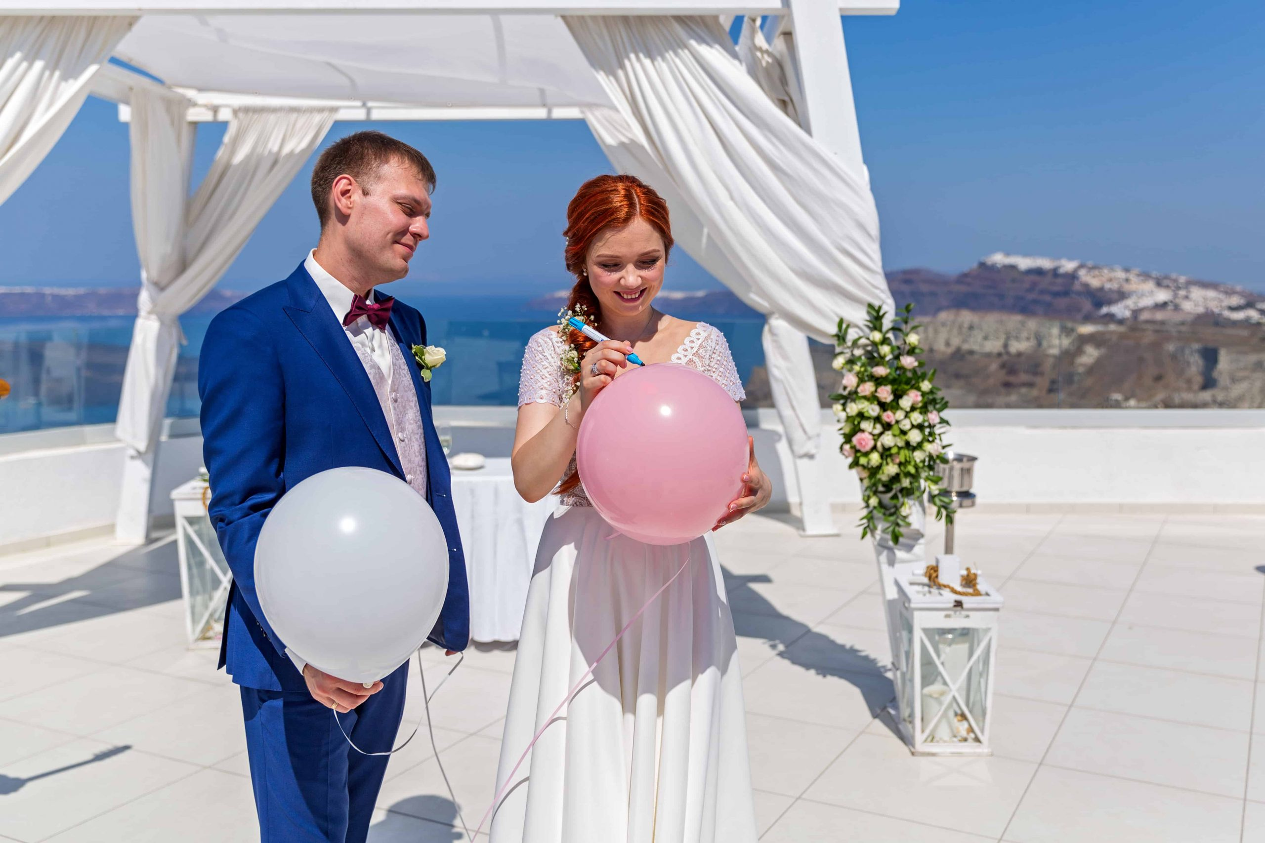 santorini wedding couple 1