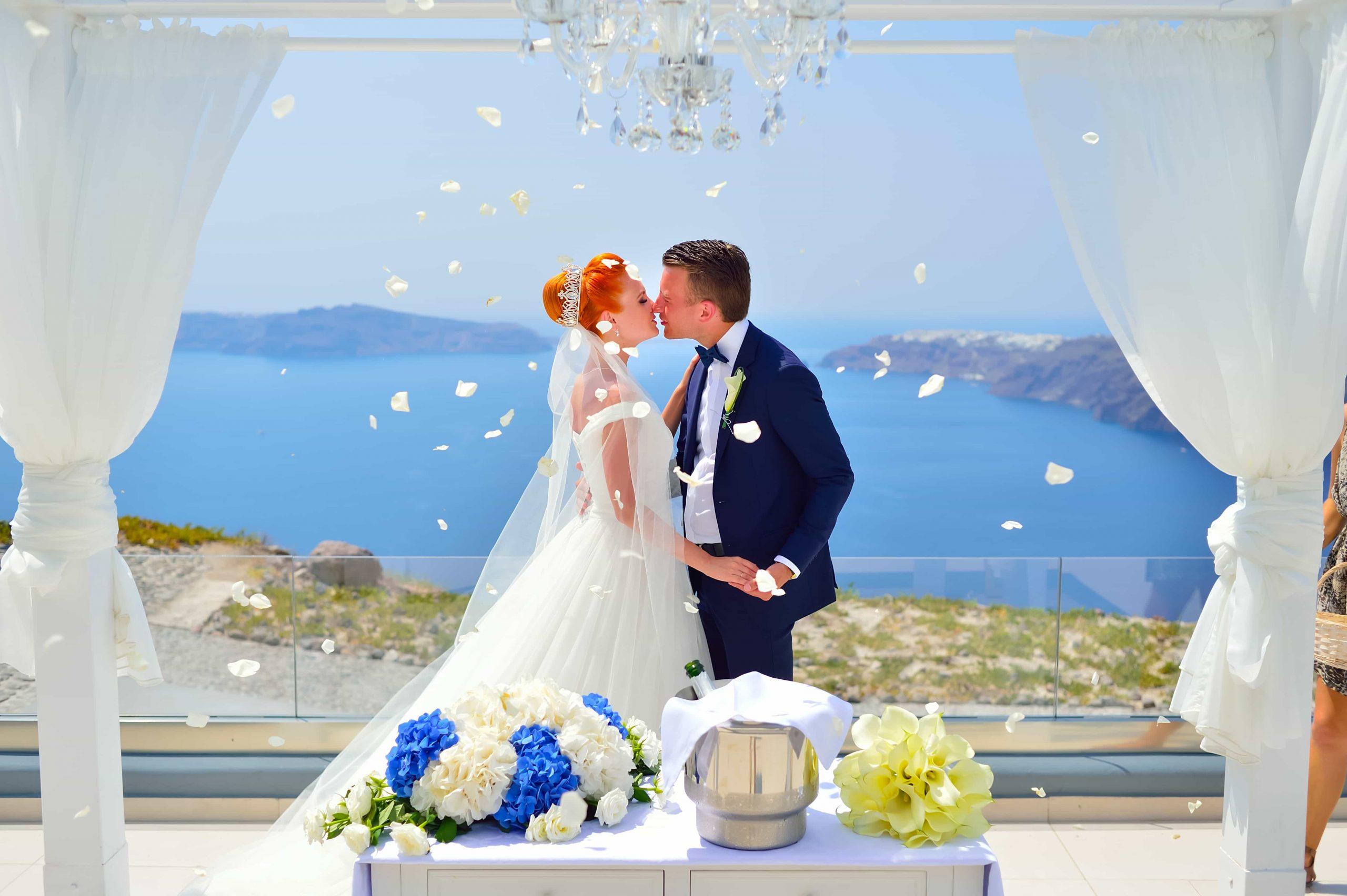 santorini wedding couple 3