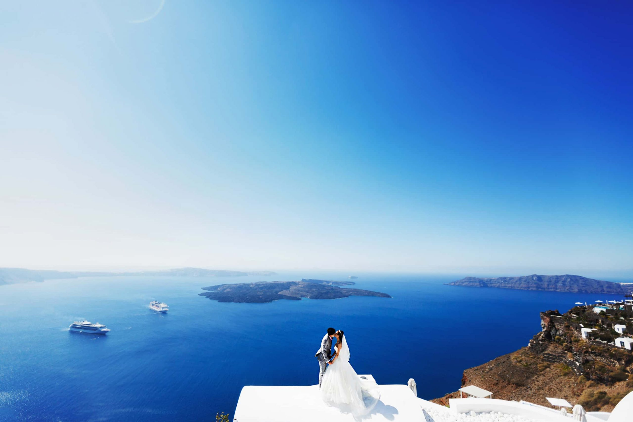 santorini wedding couple 4e