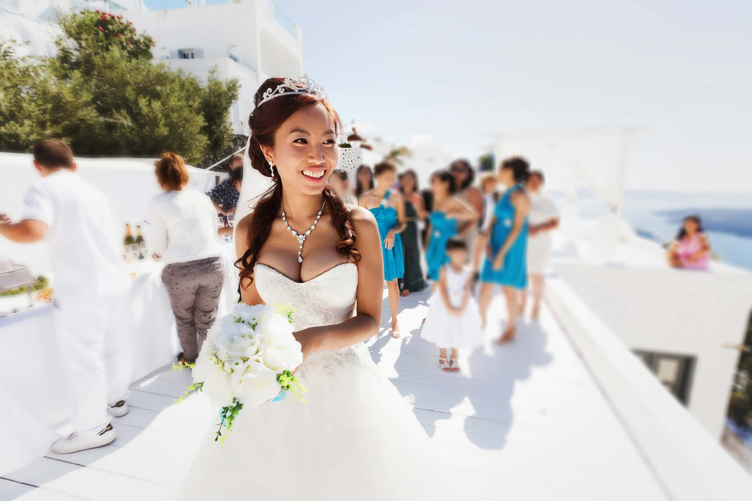 santorini wedding couple 4d