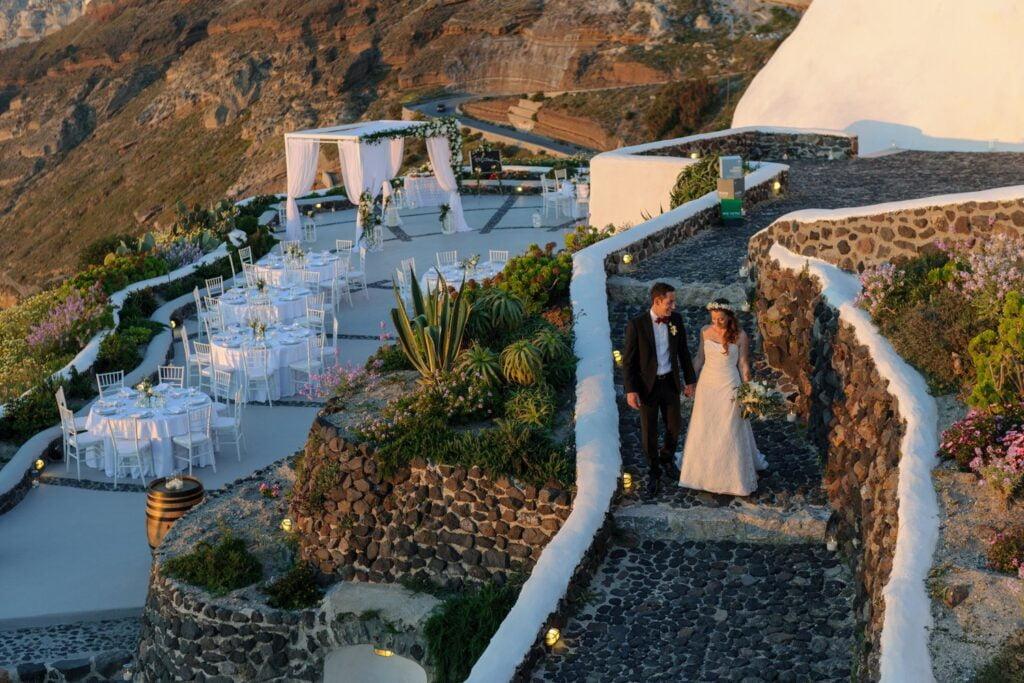 Venetsanos Winery Wedding Venue in Santorini island